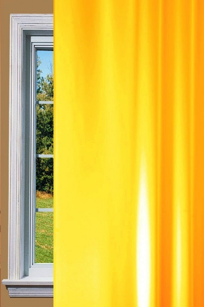 Gala Light Yellow Curtain