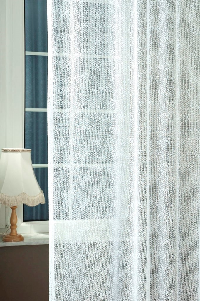 Jacquard Witte Vitrage | Patroon vitrages | Vitrages | onlinecurtains.nl